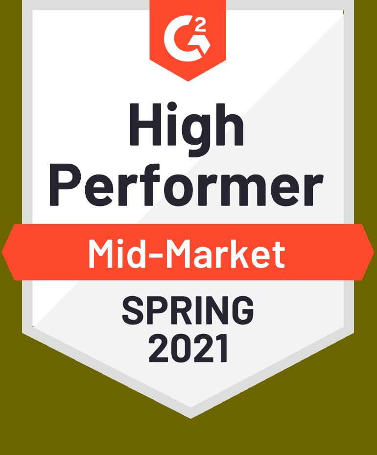 G2 High Performer Mid Market