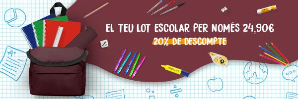 Lot escolar estalvi 20%